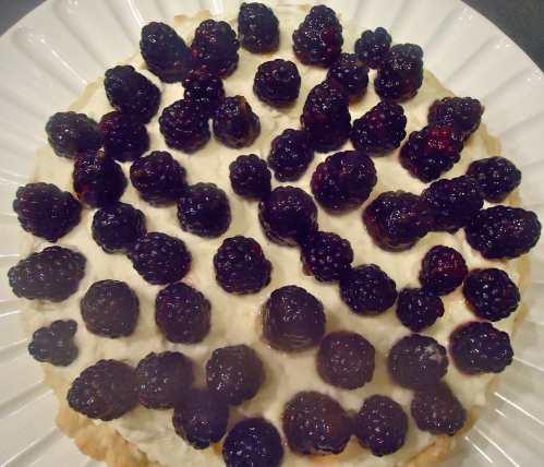 The whole finished tart.
