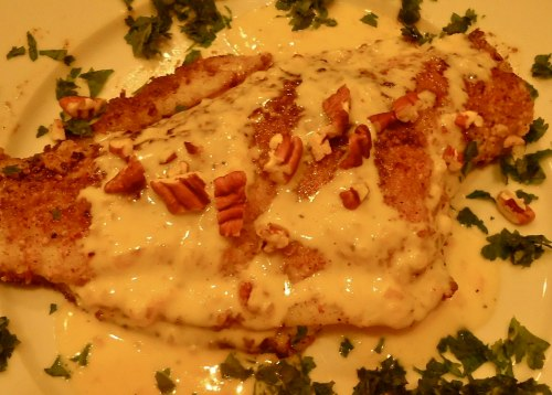 Flounder meuniere with lemon beurre blanc