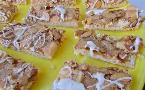 Almond bars - so good with a hot cup of coffee or tea... or a cold glass of milk!
