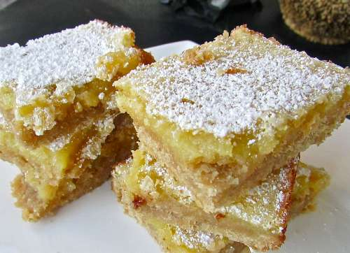 Lemon squares are good for travelin' and are a bake sale favorite! I like to serve them when tailgating but of course we've got 4 more months  before college football season cranks up...